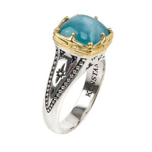 Konstantino Silver/18KY Gold ring